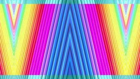 Le bande multicolori dell'arcobaleno si muovono periodicamente Fondo luminoso senza cuciture dell'estratto 3d in 4k La geometria  archivi video