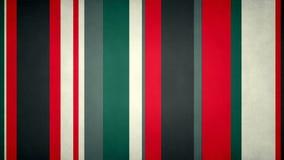 Le bande multicolori Paperlike 39 //4k 60fps hanno strutturato il video ciclo del fondo delle bande rosse e verdi illustrazione di stock