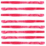 Le bande orizzontali rosse hanno fatto con una pennellata Modello senza cuciture astratto dell'acquerello illustrazione vettoriale