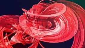 Le bande rosse variopinte torcono in una formazione circolare, movimento in un cerchio Il fondo creativo senza cuciture, ha avvol illustrazione di stock