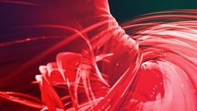 Le bande rosse variopinte torcono in una formazione circolare, movimento in un cerchio Il fondo creativo senza cuciture, ha avvol royalty illustrazione gratis