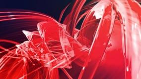 Le bande rosse variopinte torcono in una formazione circolare, movimento in un cerchio Il fondo creativo senza cuciture, ha avvol illustrazione vettoriale