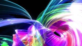 Le bande variopinte dell'arcobaleno torcono in una formazione circolare, movimento in un cerchio Il fondo creativo senza cuciture royalty illustrazione gratis