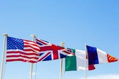 Le bandiere Fotografie Stock Libere da Diritti