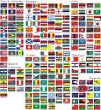 Le bandiere nazionali di tutti i paesi del mondo Fotografia Stock