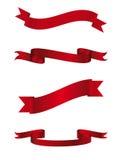 Le bandiere rosse hanno impostato Fotografie Stock