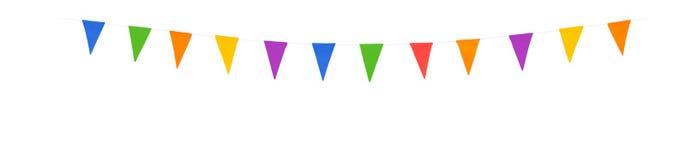 Le bandiere xl del partito hanno isolato su un fondo bianco fotografie stock libere da diritti