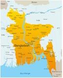 Le Bangladesh Image libre de droits