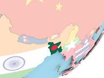 Le Bangladesh avec le drapeau Illustration Libre de Droits