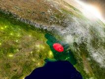 Le Bangladesh avec le drapeau en Soleil Levant Photo stock