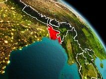 Le Bangladesh dans le matin de l'orbite illustration libre de droits