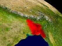 Le Bangladesh de l'espace Image libre de droits
