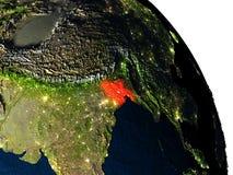 Le Bangladesh de l'espace Photographie stock libre de droits