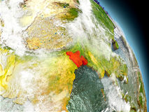 Le Bangladesh de l'espace Photo stock