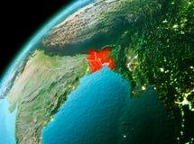 Le Bangladesh de l'espace dans la soirée Images libres de droits