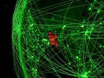 Le Bangladesh de l'espace sur le modèle vert de la terre avec les réseaux internationaux Concept de communication ou de voyage ve illustration libre de droits