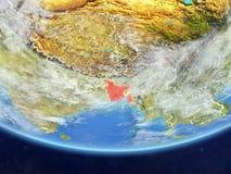 Le Bangladesh de l'espace sur terre illustration libre de droits