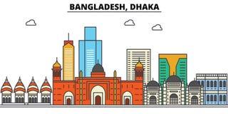 Le Bangladesh, Dhaka Architecture d'horizon de ville Editable Photos stock