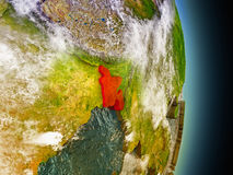 Le Bangladesh en rouge de l'espace Photos libres de droits