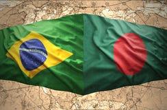 Le Bangladesh et le Brésil Image libre de droits