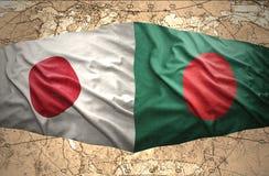 Le Bangladesh et le Japon Image libre de droits