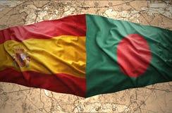 Le Bangladesh et l'Espagne Photo stock
