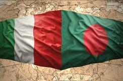 Le Bangladesh et l'Italie Images libres de droits