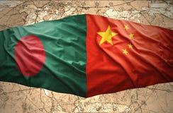Le Bangladesh et la Chine Photo libre de droits