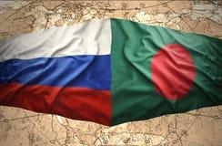 Le Bangladesh et la Russie Photographie stock