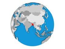 Le Bangladesh sur le globe d'isolement Image libre de droits