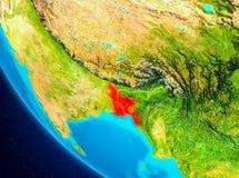 Le Bangladesh sur le globe de l'espace Image stock