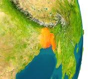 Le Bangladesh sur la planète Image stock