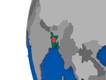 Le Bangladesh sur le globe Photographie stock libre de droits