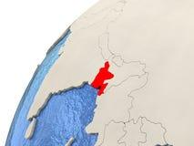 Le Bangladesh sur le globe Images libres de droits