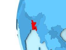 Le Bangladesh sur le globe bleu Image stock