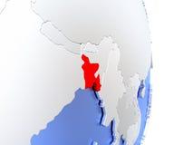 Le Bangladesh sur le globe 3D moderne élégant Images stock