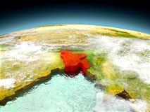 Le Bangladesh sur le modèle de la terre Photo stock