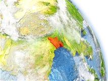 Le Bangladesh sur le modèle de la terre Photographie stock