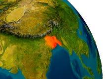 Le Bangladesh sur le modèle de la terre de planète Images stock