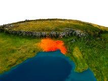 Le Bangladesh sur le modèle de la terre de planète Images libres de droits