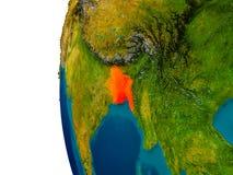 Le Bangladesh sur le modèle de la terre de planète Photos stock