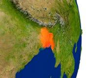 Le Bangladesh sur terre illustration de vecteur