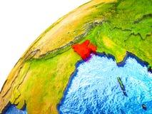 Le Bangladesh sur terre 3D illustration libre de droits