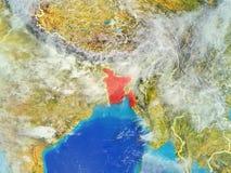Le Bangladesh sur terre de l'espace illustration libre de droits