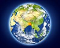 Le Bangladesh sur terre de planète Photographie stock libre de droits