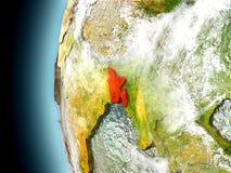 Le Bangladesh sur terre de planète de l'espace Images libres de droits