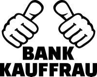 Le banquier féminin manie maladroitement l'allemand illustration de vecteur