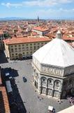Le baptistère de San Giovanni à Florence images stock