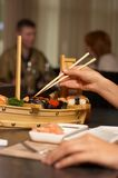Le bar de sushi Images libres de droits