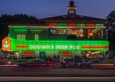 Le bar irlandais de Duggan, croisière de rêve de Woodward, MI Photos libres de droits